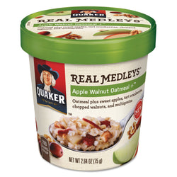 Quaker Real Medleys Oatmeal Apple Walnut Oatmeal 12ct