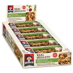 Quaker Real Medleys Fruit & Nut Multigrain Bars Apple Nut Harvest 10ct