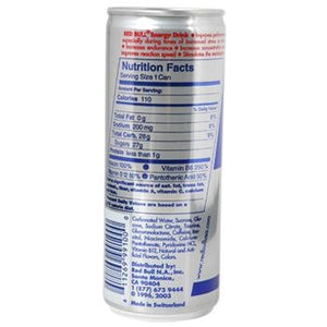 Red Bull Energy Drink 12 8.4oz Cans Back