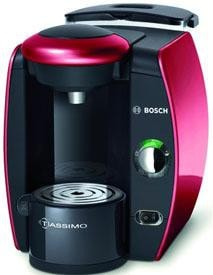 Red Tassimo Suprema Hot Beverage Machine by Bosch