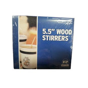 Royal 5.5-inch Wooden Stirrers 1000ct