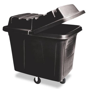 Rubbermaid 12 cubic feet Black Polyethylene Metal Frame Cube Truck