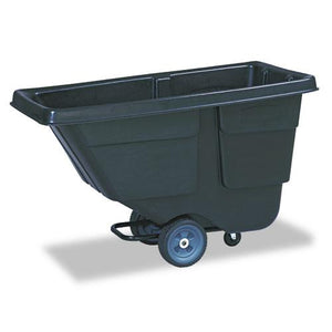 Rubbermaid 300lb Capacity Plastic with Steel Frame Black Value Line Tilt Truck