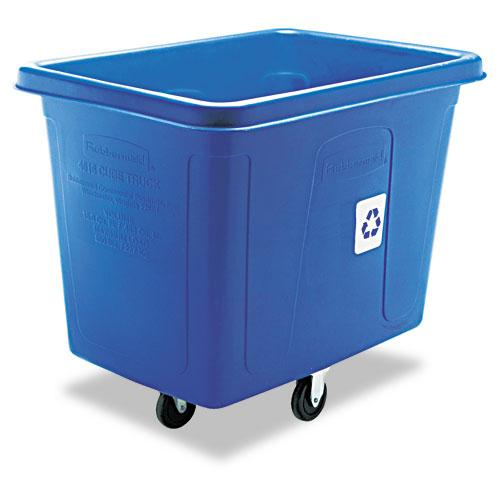 Rubbermaid Blue Recycling Cube Truck 500lb Capacity