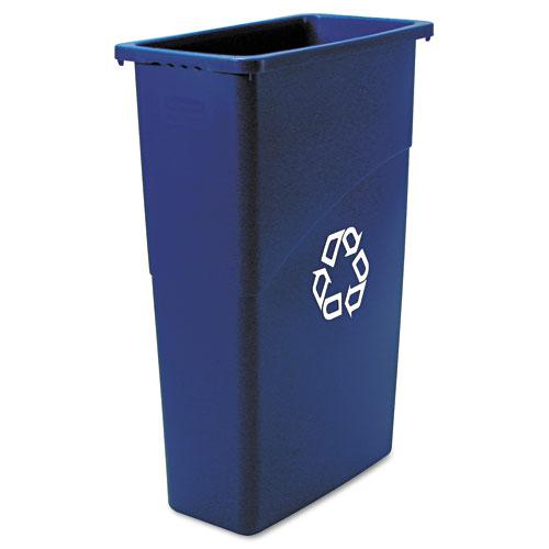 Rubbermaid Commercial 23 Gallon Blue Slim Jim Recycling Container