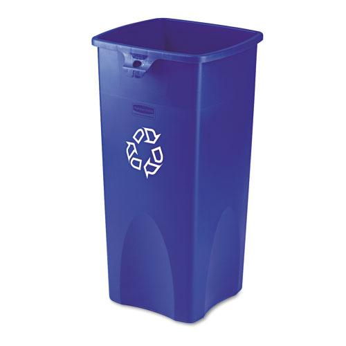 Rubbermaid Commercial 23 Gallon Blue Untouchable Recycling Container