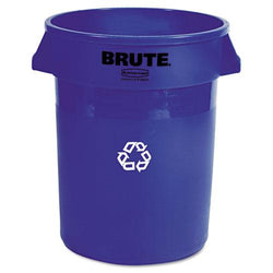 Rubbermaid Commercial 32 Gallon Blue Brute Recycling Container