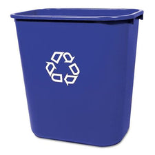 Rubbermaid Commercial 28 1/8 Quart Blue Medium Deskside Recycling Container