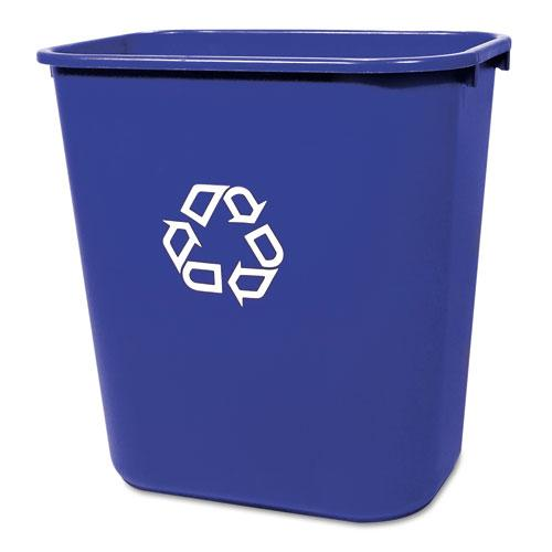 Rubbermaid Commercial Blue Medium Deskside Recycling Container