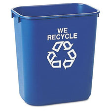 Rubbermaid Commercial 13 5/8 Quart Blue Small Deskside Recycling Container