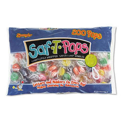 Saf-T-Pops Assorted Flavors 200ct Bag