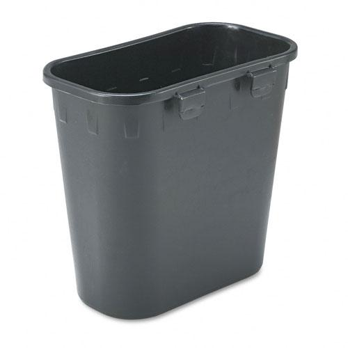 Safco Black Paper Pitch Recycling Bin
