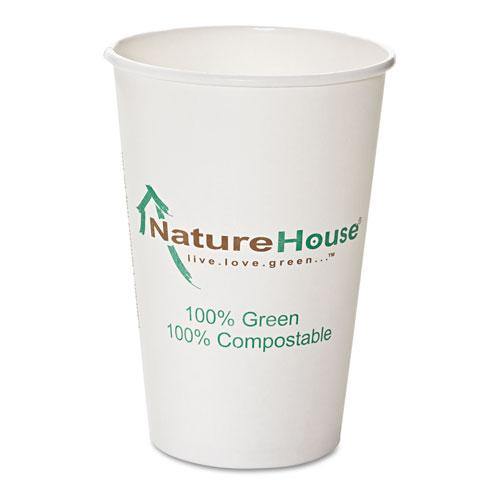 Savannah 10oz PLA Compostable Paper Cups 50ct