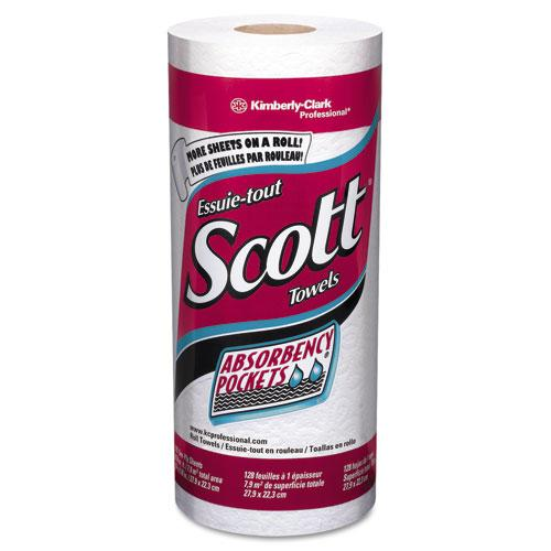 Scott Perforated Single Ply Paper Towel Rolls 20ct