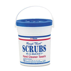 Scrubs 10.5x12.25 Inch Hand Cleaner Cloth Towels 72ct Bucket