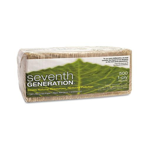 Seventh Generation 11.5x13 Inch 100% Recycled One-Ply Luncheon Napkins 500ct Pack