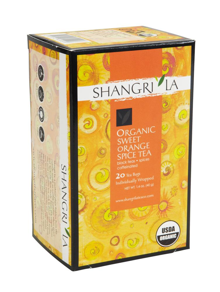 Shangri La Organic Sweet Orange Spice Tea Bags 20ct