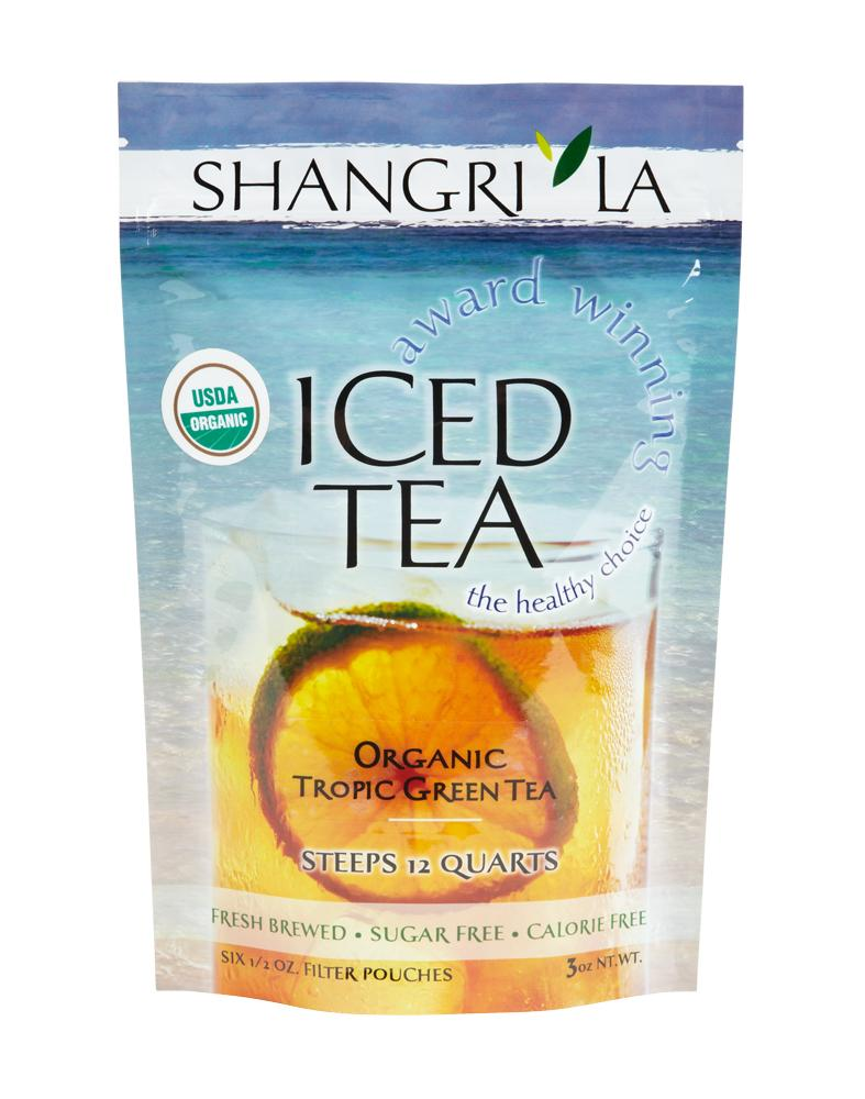 Shangri La Organic Tropical Green Iced Tea Packets 6ct