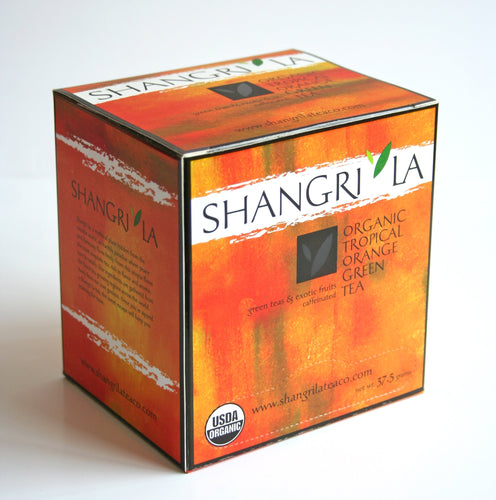 Shangri La Organic Tropical Orange Green Tea Sachets 15ct