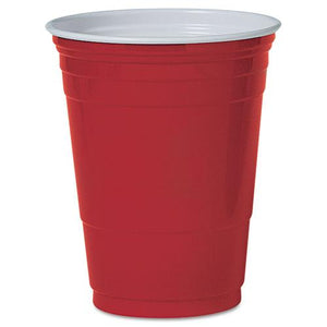 Solo 16oz Red Plastic Party Cold Cups 50ct Pack