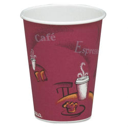 Solo 8oz Bistro Design Paper Hot Drink Cups 1000ct Case