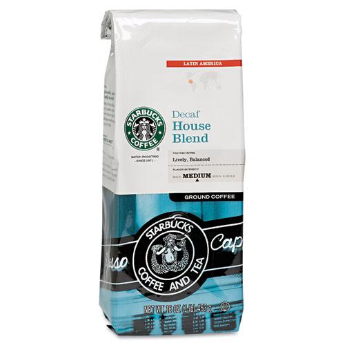 Starbucks  Coffee House Blend DECAFFEINATED 1lb Bag of Beans