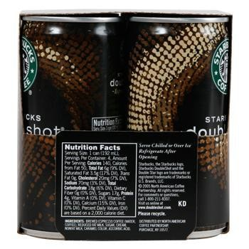 Starbucks DoubleShot Espresso Drink 12 6.5oz Cans Right Side