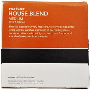 Starbucks House Blend K-Cups 10ct Box back