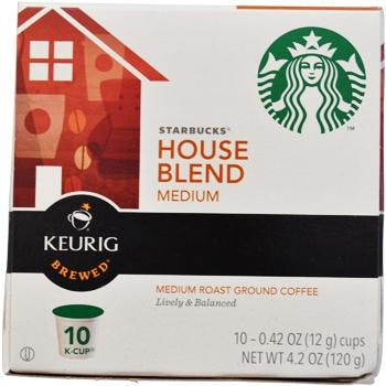 Starbucks House Blend K-Cups 10ct Box