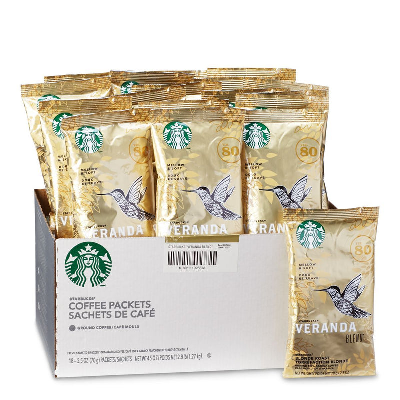 Starbucks Veranda Ground Coffee 18 2.5oz