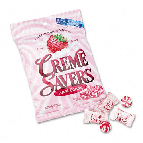 Strawberry Creme Savers Hard Candy 6oz Bag