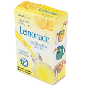 Sturm Foods Lemonade Sugar Free Stick Packs 10ct Box