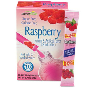 Sturm Foods Raspberry Sugar Free Stick Packs 10ct Box