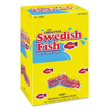 Swedish Fish Grab-n-Go Soft & Chewy Candy Snacks 240ct Box
