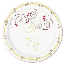 Sweetheart Symphony Design Poly-Coated 8.5 Inch Paper Plates 1000ct