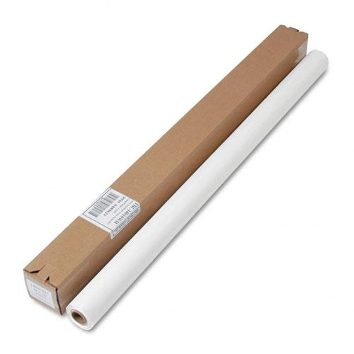 "Tablemate 40"" x 100' White Table Set Plastic Banquet Roll Table Cover"