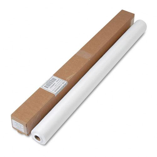 "Tablemate 40"" x 50' White Linen-Soft Non-Woven Polyester Banquet Roll"