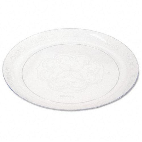 Tablemate Clear Scroll 9 Inch Plastic Plates 25ct