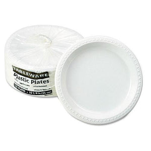 Tablemate White 10 1-4 Inch Plastic Plates 125ct
