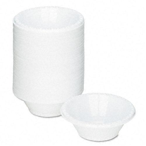 Tablemate White 5oz Plastic Bowls 125ct