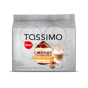 Tassimo Corner Coffee House Sweet Caramel Latte Coffee Pods 16ct (8 Coffee, 8 Syrup)