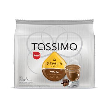 Tassimo Gevalia Mocha Coffee Pods 16ct (8 Coffee, 8 Syrup)