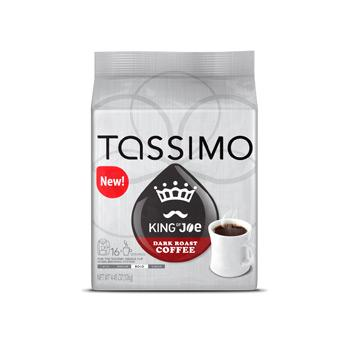 Tassimo King of Joe Dark Roast Coffee Pods 16ct