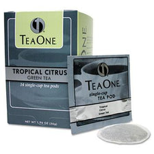 TeaOne Tropical Citrus Green Tea Pods 14ct Box