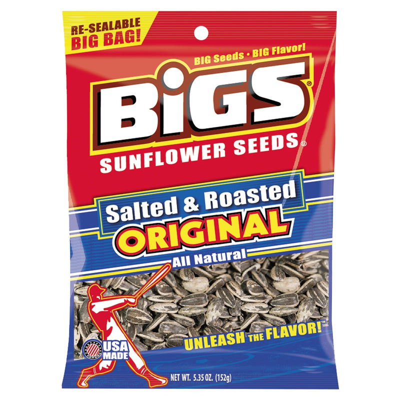 BIGS Salted Sunflower Seeds 5.35 oz Bag 12ct