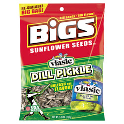 BIGS Dill Pickle Sunflower Seeds 5.35oz Bag 12ct