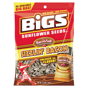 BIGS Bacon Sunflower Seeds 5.35oz Bag 12ct