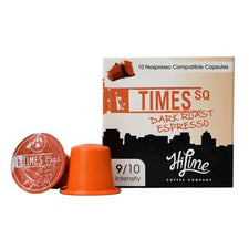 HiLine Coffee Times Square Dark Roast Nespresso Compatible Capsules 10ct