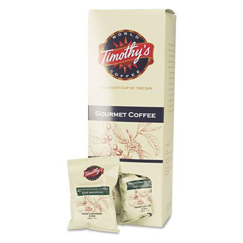 Timothy's Decaffeinated Colombian Ground Coffee 32 2.5oz Fraction Packs