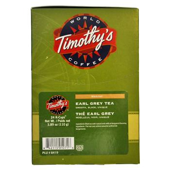 Timothys Coffee Earl Grey Tea K-Cup® Pods 96ct